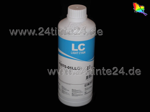 1 Liter color cyan light InkTec Tinte Direct  Spezial Tinte Textil Ink