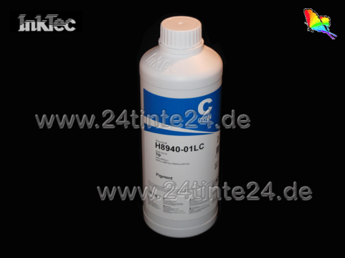 1 Liter InkTec DYE Tinte für Brother color cyan