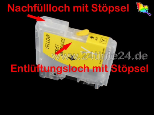 Ink-Patronen 35ml/25ml kompatibel  zu  Brother  MFC, DCP mit Patronen LC 1100