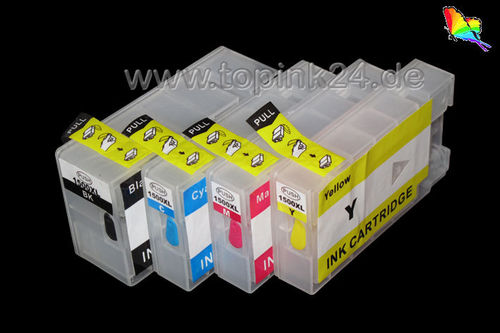 Refillable  ink cartridge with ARChip for Canon PGI-1500 BKCYM