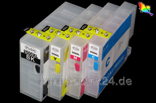 Refillable  ink cartridge with ARChip for Canon PGI-2500 BKCYM