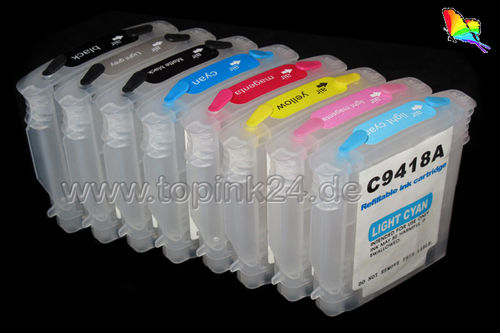 Refillable ink cartridge with ARChip for HP Photosmart Pro B8850 B9180 B9180GP with HP 38