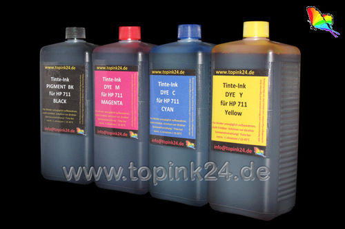 Refill kit foto ink Ink pigment UV & DYE for HP Designjet T120 T520 with HP 711