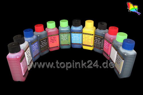 Refill kit UV ink pigmen for HP Designjet Z3200 Z 3200 HP70 HP73 12 color