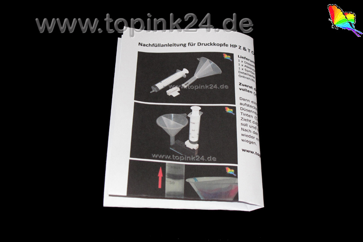 Printhead cleaning kit / head refill tool for HP Designjet Z T